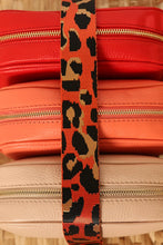 Load image into Gallery viewer, Printed Bag Strap - Orange Leopard Print