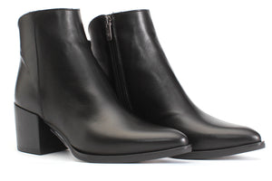 Mia Leather Ankle Boot