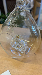 Gisela Graham Nativity Scene Glass Bauble