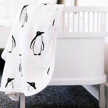 Load image into Gallery viewer, Fred & Noah Penguin Pram Blanket