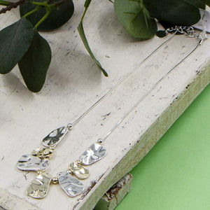 Silver & Gold Organic Shapes Necklace
