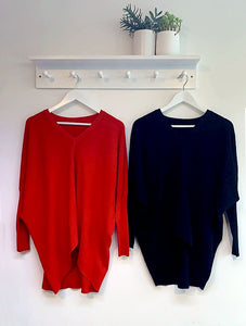 Emily Ribbed V Neck Jumper