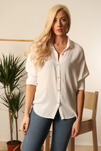 Load image into Gallery viewer, Patricia White Crepe Shirt