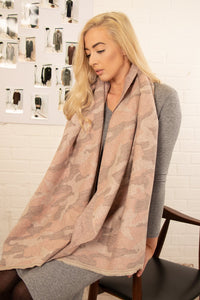 Camouflage Print Blanket Scarf