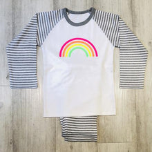 Load image into Gallery viewer, Neon Marl Kids Rainbow Pjs