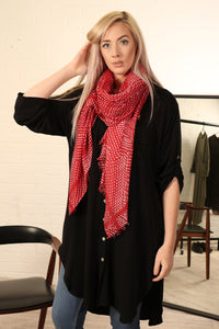 Red Spotty Scarf
