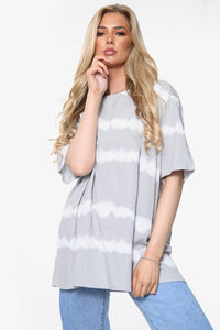 Adelaide Tie Dye Cotton & Linen Blend Top