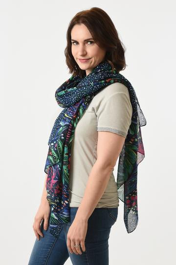 Abstract Floral Scarf