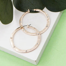 Load image into Gallery viewer, Hoop Earrings with Crystals