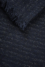 Load image into Gallery viewer, Navy & Metallic Shimmer Scarf