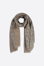 Load image into Gallery viewer, Taupe Leopard Print Blanket Scarf