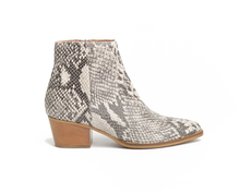 Load image into Gallery viewer, Cara Bea Python Ankle Boots