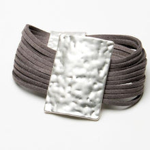 Load image into Gallery viewer, Multi Stranded Suede Bracelet