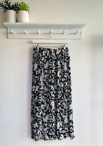 Amara Animal Print Pleated Skirt