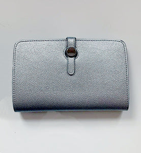 Clara Silver Button Purse
