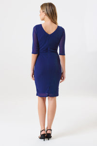 Millie Indigo Sparkle Wrap Dress
