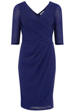 Load image into Gallery viewer, Millie Indigo Sparkle Wrap Dress
