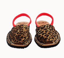 Load image into Gallery viewer, Palmaira Avarca Sandal - Leopard Neon