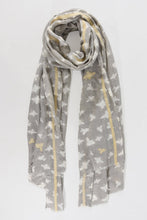 Load image into Gallery viewer, Metallic Gold Bee Scarf