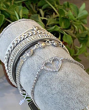 Load image into Gallery viewer, Silver Chain & Heart Bracelet