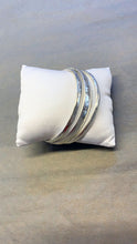 Load image into Gallery viewer, Burnished Silver Bangle Trio