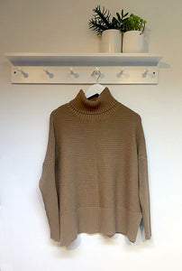 Eliza Ribbed Cowl Neck Jumper