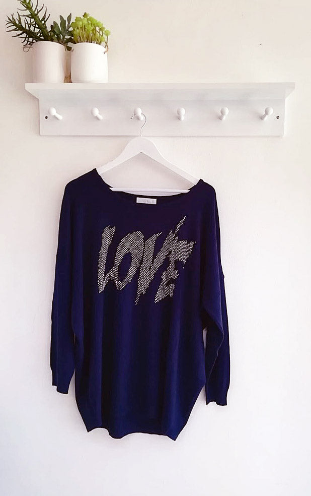France Love Motif Jumper