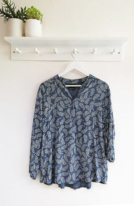 Heather Paisley Print Top