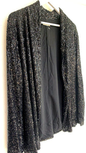Iris Black Sequin Blazer