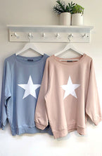 Load image into Gallery viewer, Chalk Nancy Star Sweatshirt