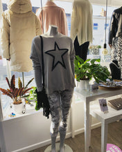 Load image into Gallery viewer, Lola Silver Glitter Star Jumper