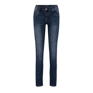 Red Button Jimmy Skinny Jeans - Used Blue Midstone