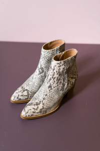 Cara Bea Python Ankle Boots
