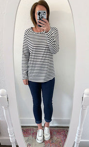 Chalk Tasha Stripe Top