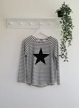 Load image into Gallery viewer, Chalk Tasha Stripe & Star Top
