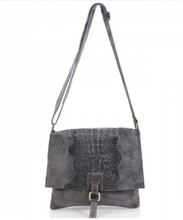 Load image into Gallery viewer, Sarah Leather Snakeskin Messenger Bag
