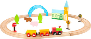 City & Countryside Wooden Toy Train Set