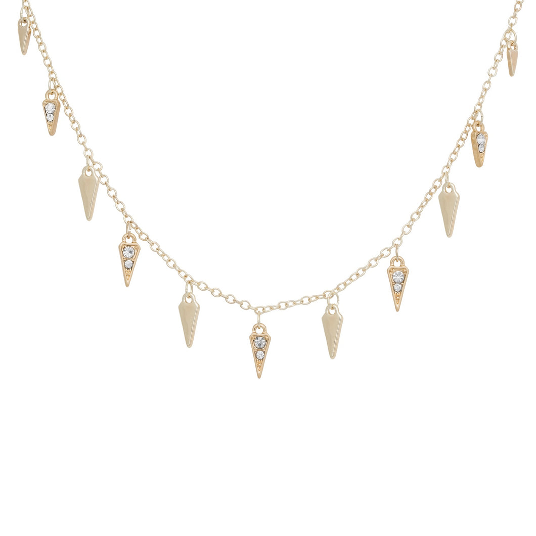 Kate Thornton Arrowhead Scattered Necklace