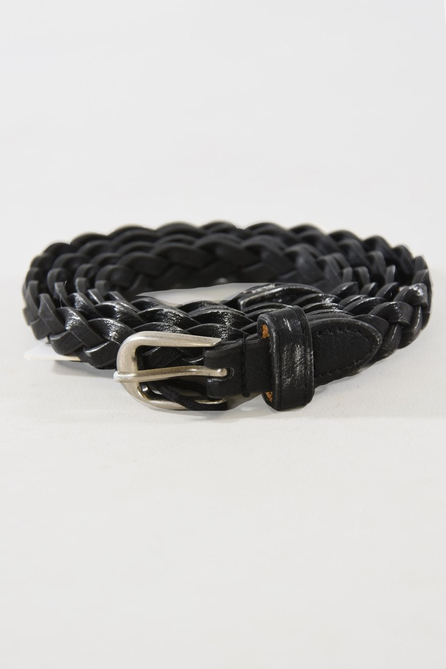 Dark Grey Braided Belt