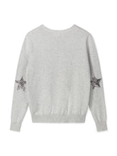 Load image into Gallery viewer, Chalk Hazel Cotton Glitter Star Jumper
