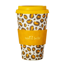 Load image into Gallery viewer, Leopard Love Bamboo Coffee Cup
