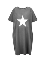 Load image into Gallery viewer, Chalk Linda Star Motif Dress