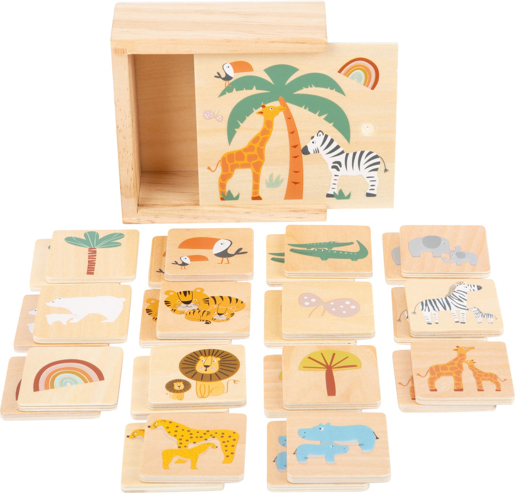 Wooden Memory Safari Game