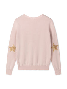 Chalk Hazel Cotton Glitter Star Jumper