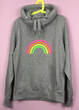 Load image into Gallery viewer, Neon Marl Grey Neon Rainbow Hoodie