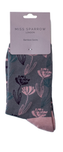 Load image into Gallery viewer, Miss Sparrow Bamboo Climbing Floral Socks