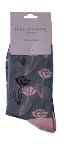 Miss Sparrow Bamboo Climbing Floral Socks