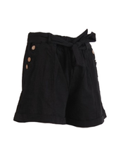 Load image into Gallery viewer, Francesca Belted Italian Linen Shorts
