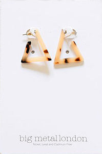 Olivia Resin Triangle Earrings