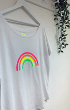 Load image into Gallery viewer, Neon Marl Relaxed Fit Neon Rainbow Cotton Top